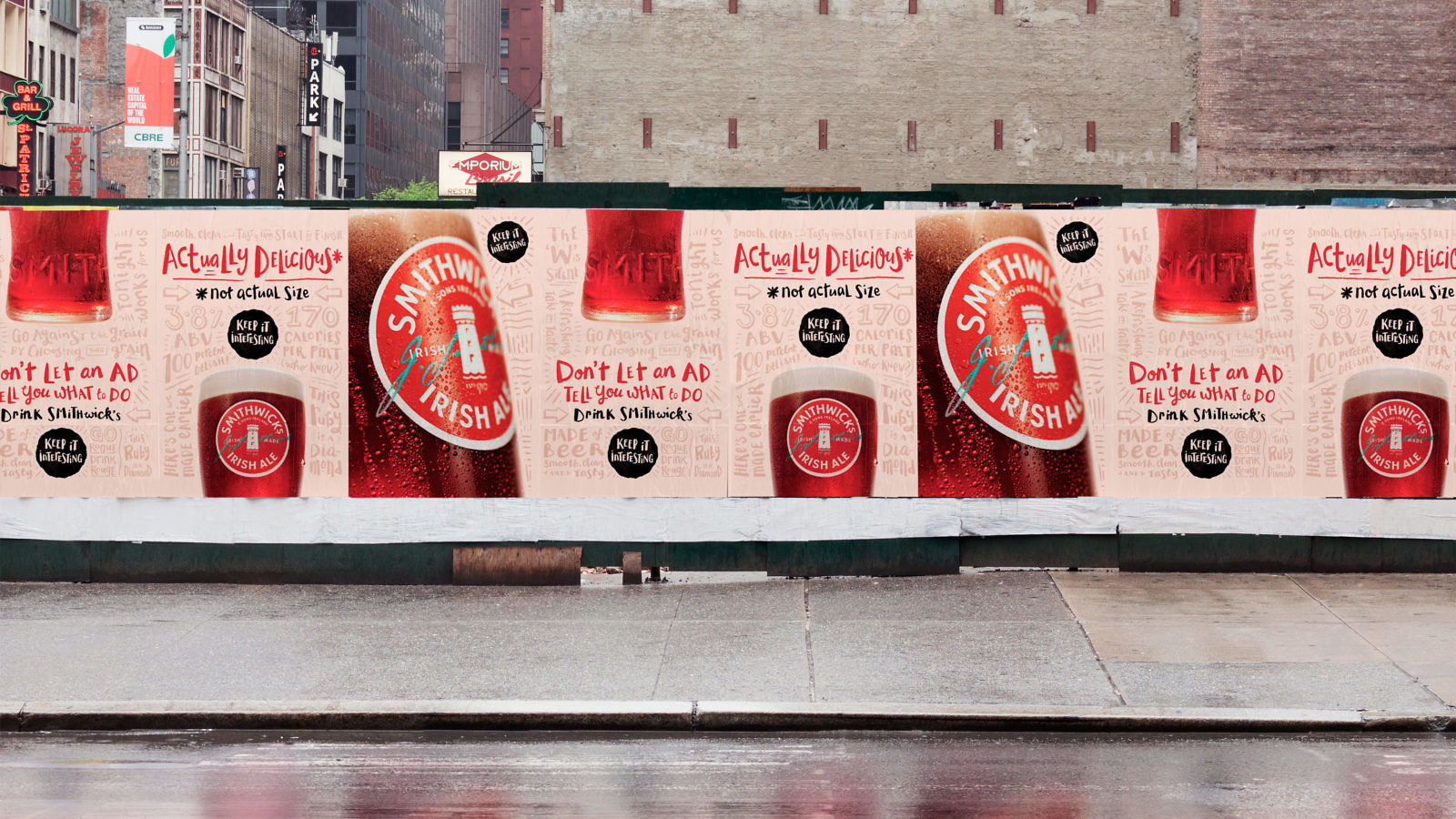 Smithwick's 'Keep it Interesting' campaign fly posters